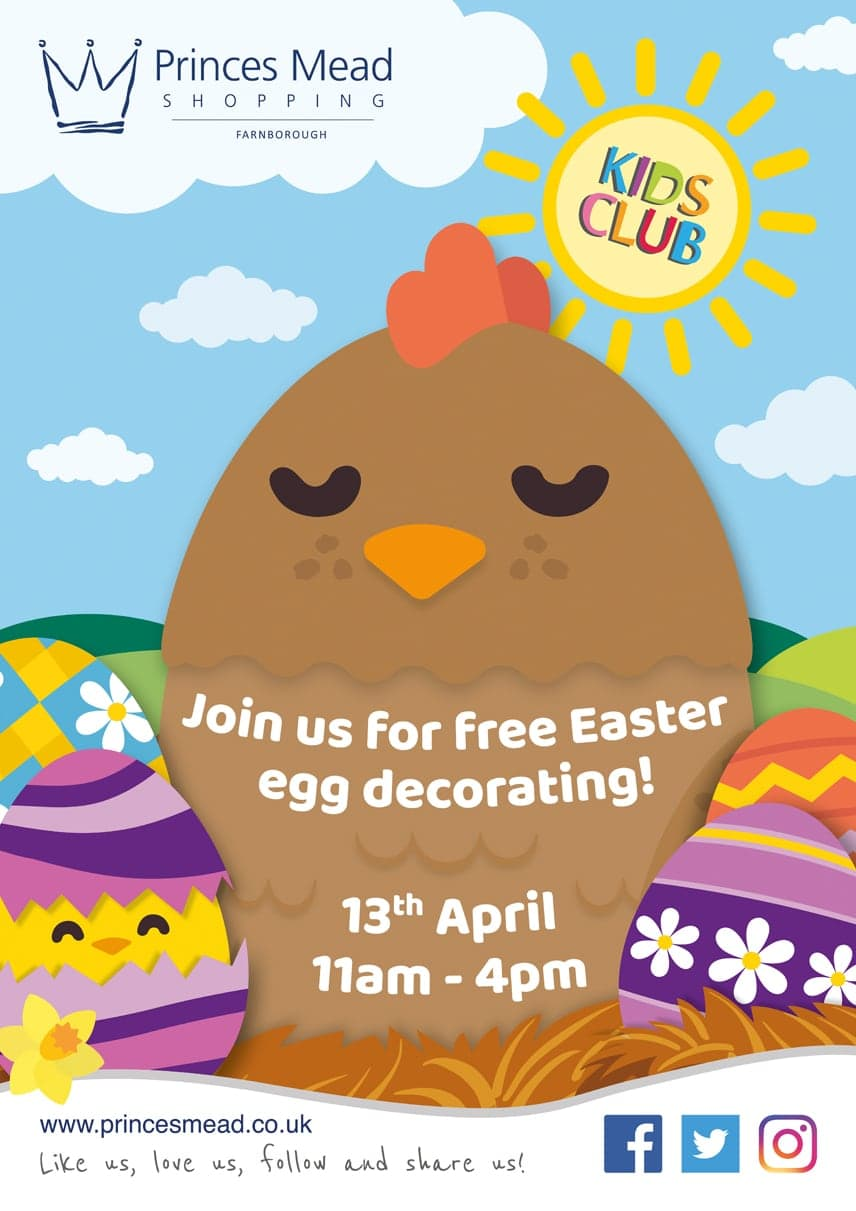 April Poster Easter 19 - Our Events