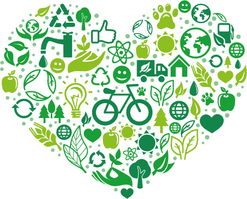 Green eco heart - Corporate Social Responsibility