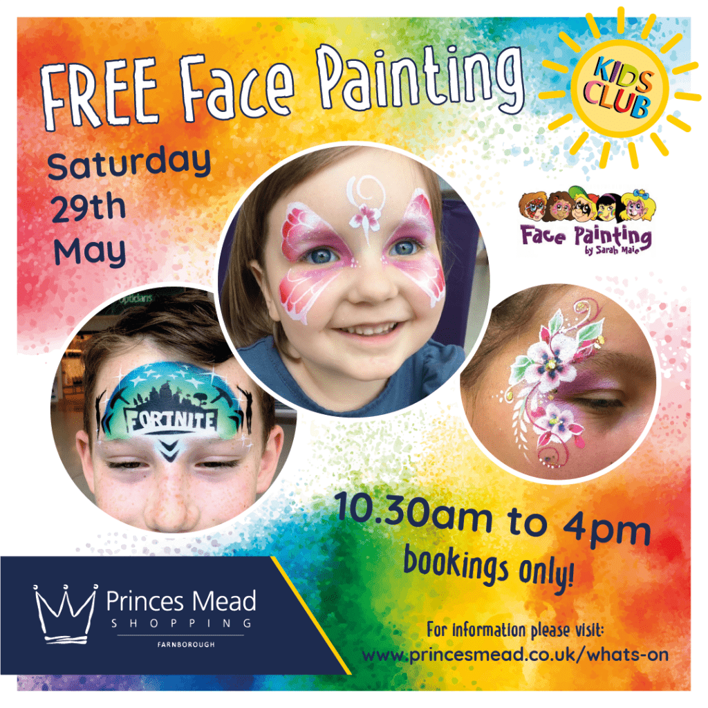 Princes Mead Kids Club Face Painting Social Media SQ 1024x1024 - What's On